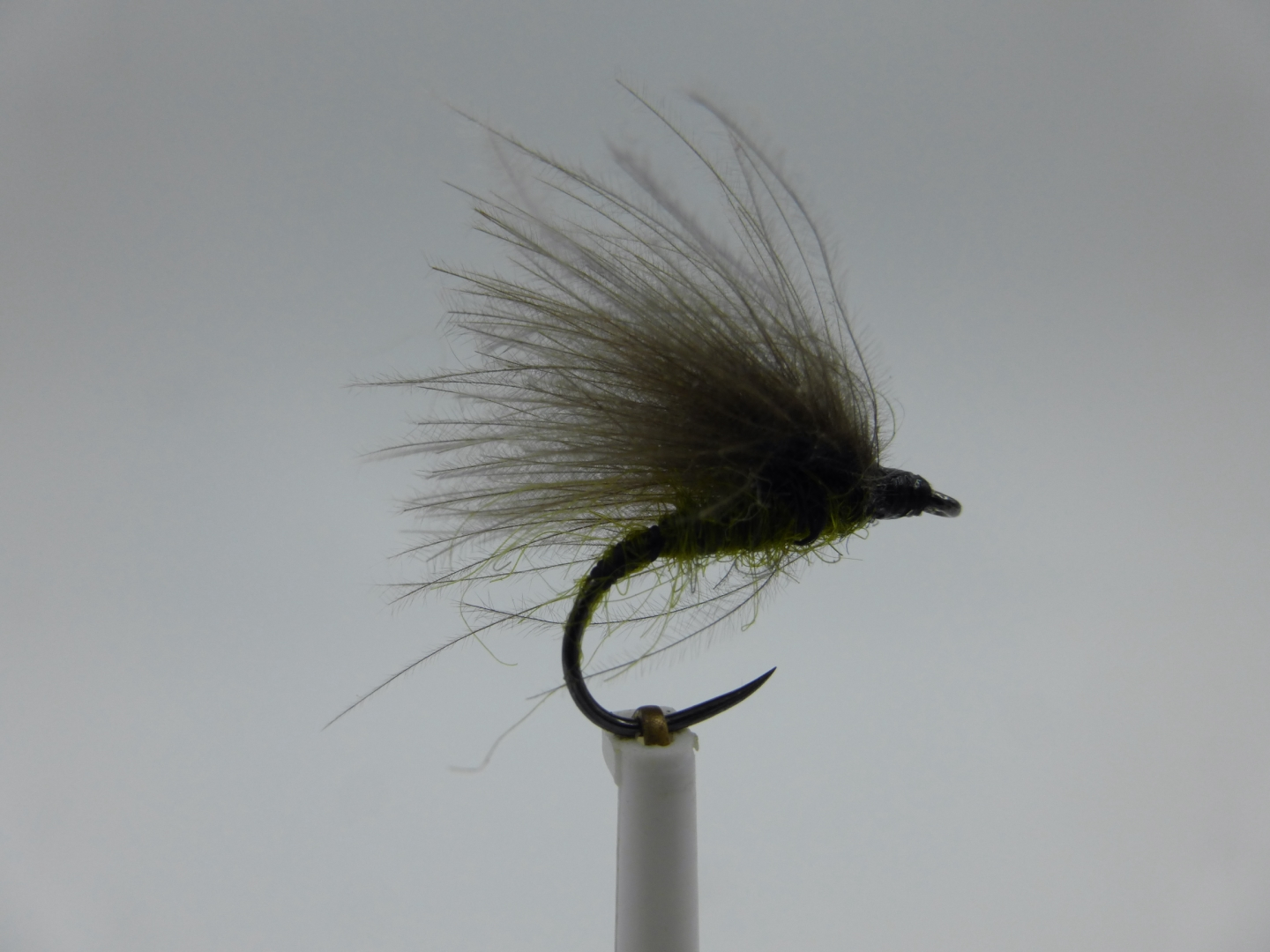 3 X CDC OLIVE HIGH RIDER SEDGE DRY TROUT FLIES sizes 10,12 available