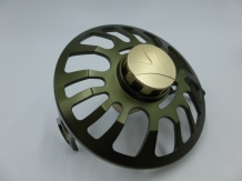 A&M 7 Serie Fly Reel # 7/8 Olive/Gold