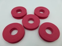 EVA Foam Leader Spool - Red  - 5 stuks