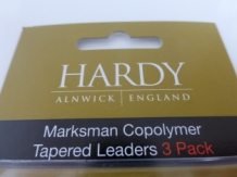 Hardy Marksman 6X -12 ft  Tapered Leaders - 3 Pack