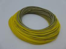 A&M WF8 Pike Fly line Sinking  - Yellow/Olive