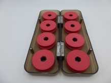 EVA Foam Leader Spool Box 8 X - Red