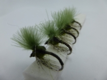 Size 18 Quill Body Olive CDC Emerger - Barbless