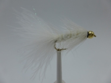 Size 10 Wooly Bugger White Bead head