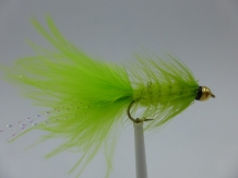 Size 10 Wooly Bugger Chartreuse Bead head