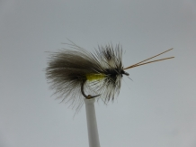 Size 14 High Rider Sedge Yellow CDC Barbless