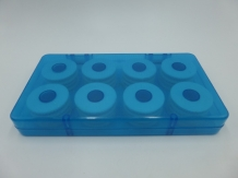 EVA Foam Leader Spool Box 16 X - Blue / White
