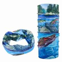 A&M 3 -D Seamless Headwear Buff - RAINBOW TROUT