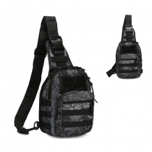 A&M Slingbag Black / Grey Camo 600 D