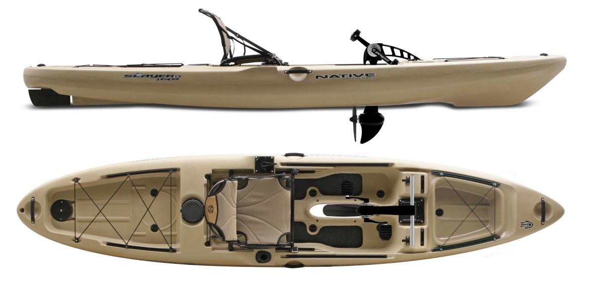Trapkano native for Native fishing kayak